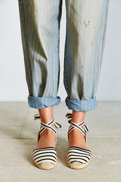 Shop Soludos Classic Canvas Stripe Espadrille Sandal at Urban Outfitters today. We carry all the latest styles, colors and brands for you to choose from right here. Spring Shoes, Summer Shoes, Jesus Sandals, Striped Espadrilles, Ankle Shoes, Hot Shoes, Espadrille Sandals, Women's Sandals, Cute Sandals