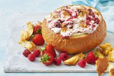 Introducing the dessert cob - a party classic with a sweet berry cheesecake filling Cob Dip, Cob Loaf Dip, Loaf Recipes, Dip Recipes, Cobb Loaf, Fairy Bread, Aussie Food, Berry Cheesecake, Meals
