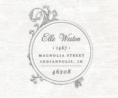 Custom Address Stamp, Wood handled Rubber Stamp, Calligraphy Stamp, Personalized Gift, Custom Address Rubber Stamp, Wedding. $25.00, via Etsy.