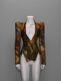 "Jacket, ""It's a Jungle Out There"" Fall 1997 - ""Alexander McQueen: Savage Beauty"" at the Met"