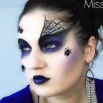Spider-Queen-Black-Widow-Halloween-Makeup