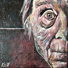 Olga - 40/40 acrylic painting by Sandra Reinecker