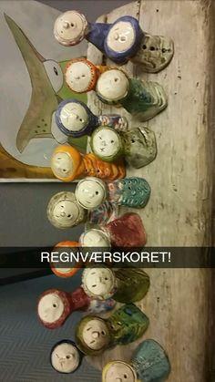 Regnværskor i keramikk