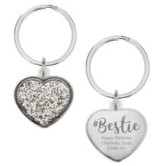 This unique Personalised Diamante Bestie Heart Key ring is a sweet gift for your BFF. Personalised Keyrings, Personalised Pens, Personalized Gifts, Besties, Bff, Special Gifts, Great Gifts, Heart Keyring, Key Rings
