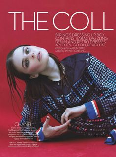 """""""The Collections"""" Vasilisa Pavlova for Marie Claire UK February 2016"""