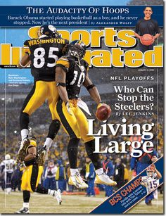 Steelers On Cover Of Latest Sports Illustrated - Steelers Depot Steelers Live, Pittsburgh Steelers Football, Pittsburgh Sports, Pitt Steelers, Chuck Noll, Si Cover, Sports Illustrated Covers, Nfl Playoffs, Sports Magazine