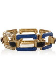 enamel and glass crystal bracelet