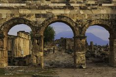 The ancient city of Hierapolis by alizekikaya