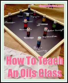 How To Teach An Oils Class - I think this is really cool and I would love to do this.