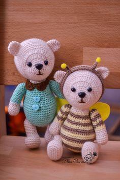 Toys by Alla Chernous: Мишка в костюме пчелы