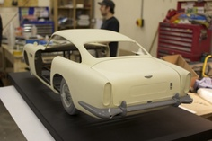 3D printed model scale car
