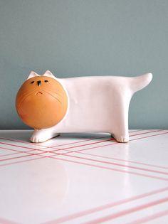 Ceramic Cat Bank, $22