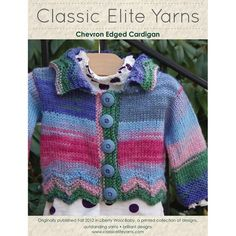 Classic Elite Yarns 9208 Chevron Edged Cardigan PDF