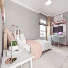 Girls Bedroom Ideas 8 Year Old Small ; Girls Bedroom Ideas 8 Year Old Cute Bedroom Ideas, Girl Bedroom Designs, Room Ideas Bedroom, Small Room Bedroom, Trendy Bedroom, Master Bedroom, Ikea Bedroom, Bed Room, Bedroom Drapes