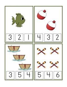 Gone Fishing Printable pre-k Summer Preschool Activities, Preschool At Home, Preschool Printables, Preschool Math, Preschool Worksheets, Kindergarten Activities, Teaching Math, Book Projects, Math Games