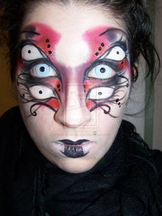 Quick and easy spider web halloween makeup - YouTube … | Pinteres…