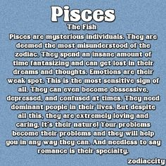 Discover and share Pisces Personality Quotes. Explore our collection of motivational and famous quotes by authors you know and love. Pisces Traits, Astrology Pisces, Zodiac Signs Pisces, Pisces Quotes, Astrology Signs, Zodiac Facts, Scorpio, Pisces Girl, Pisces Love