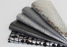 5pcs  Scrap Leather Pieces , Shiny  Silver Leather Offcuts , Silver Snakeskin by JLLeatherSupplies on Etsy