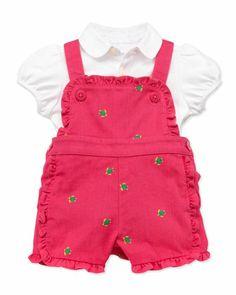 Mesh Polo & Schiffli Jumper Set, 3-12 Months  by Ralph Lauren Childrenswear at Neiman Marcus.