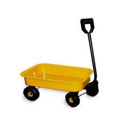 Blech-Handwagen. Ein Blech-Handwage der geeignet ist zum Spielen und zum Transportieren unterschiedlichster Dinge. Dank seiner Räder aus Kunststoff, bekommt man niemals einen Platten.