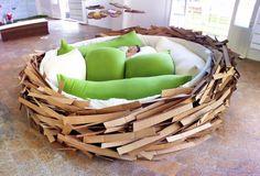 Lekker slapen in een vogelnest