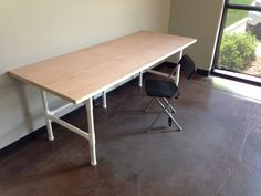 How to Make a Sturdy Table out of PVC One of the easiest, yet underutilized uses for PVC is to make a frame for a table or workbench. This does take a little bit of planning and a good deal of mat…