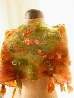 hand felted nuno scarf for fall.