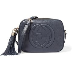 Gucci Soho Disco textured-leather shoulder bag ($980) ❤ liked on Polyvore featuring bags, handbags, shoulder bags, gucci, blue, crossbody cell phone purse, gucci handbags, gucci shoulder bag, crossbody purse and shoulder strap handbags