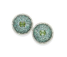 A PAIR OF EXQUISITE TOURMALINE AND DIAMOND EAR CLIPS, BY JAR