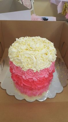 Ombre first birthday cake...dusted with shimmering gold stars ☆