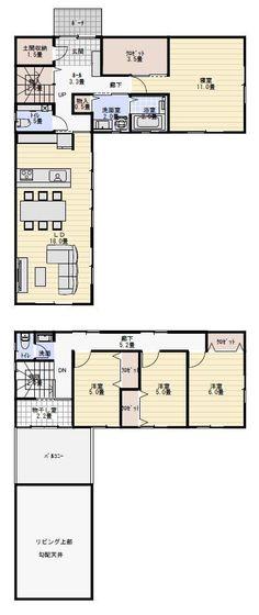 中庭を囲う。お風呂からの庭。 Floor Plans, Flooring, How To Plan, Japanese Style, Japanese Taste, Hardwood Floor, Japanese Outfits, Floor Plan Drawing, Japan Style