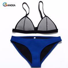 9f7ce191325 BANDEA 2017 New Mesh Swimwear Women Sexy Bikini Set Low Waist Swimsuit  bikinis de las mujeres