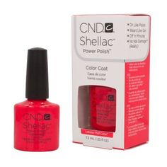 Nail Colors Dark Skin CND Shellac LOBSTER ROLL Soak Off Gel UV Nail Polish 0.25 oz 2013 Summer Splash by CND Cosmetics *** Learn more by visiting the image link.