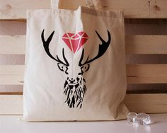 Tote Deer by AiramBarreto on Etsy, €10.00