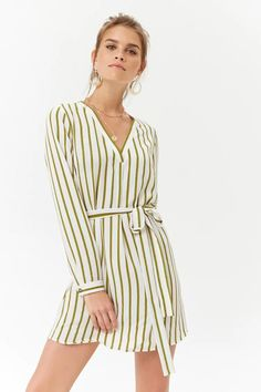 Product Name:Striped Front Tie Dress, Category:dress, Price:15.9