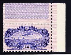 France 1936 - 50fr pink burelage - Yvert Airmail n° 15