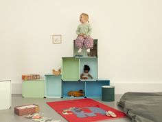 'kontur' by fritz und franken is a modular storage system capable of being integrated within the context of residential lounge areas and office workspaces. Home Office Furniture, Kids Furniture, Furniture Design, Modular Storage, Storage Units, Storage Ideas, Convertible Furniture, Plastic Shelves, Office Workspace
