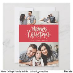 Photo Collage Family Holiday Photo Card, Best christmas cards to family Merry Christmas Photos, Christmas Photo Cards, Christmas Greeting Cards, Holiday Photos, Christmas Greetings, Christmas Fun, Holiday Cards, Handmade Christmas, Xmas