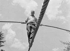 "March 22, 1978: KARL WALLENDA DIES - Karl Wallenda, the 73-year-old patriarch of ""The Flying Wallendas"" high-wire act, falls to his death while attempting to walk a cable strung between two hotel towers in San Juan, Puerto Rico."