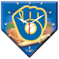Milwaukee Brewers High Def Clock