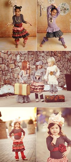 Persnickety's fall line, look at the ruffled leggings in the top photo ... so adorable!