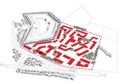 Set in a pivotal location between Rochester and Chatham, Horsted Park is a mixed-use, mixed-tenure development set in a suburban context across twenty acres of land. Mixed Use, Site Plans, How To Plan, Park, Projects, Markers, Architectural Sketches, Architecture, Inspiration