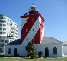 Green Point Lighthouse (Cape) is the oldest solid structured Lighthouse in South Africa dating back to 1824. Many a Lighthouse Keeper learnt their trade there. It is a 16 meter square masonry building and is often incorrectly referred to as Mouille Point.