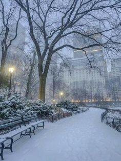 65 Ideas For Winter Landscape City Central Park Winter Szenen, Winter Love, Winter Magic, New York Winter, Winter Park, New York Weihnachten, New York Christmas, Snow Scenes, Winter Pictures