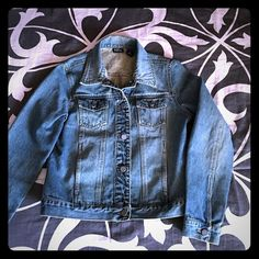 New York Co. Jean Jacket size M Adorable jean jacket that hits at the hip. Button closure and side pockets. Shirt sold separately in another listing. Time to gear up for spring! New York & Company Jackets & Coats Jean Jackets