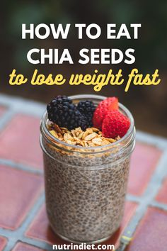 Chia seeds to lose weight? Know the benefits of chia seeds and learn how to eat chia seeds to lose weight. Learn the right way to eat chia seeds and get more out of chia seeds for weight loss. #chiaseedstoloseweight #eatchiaseeds Best Weight Loss Foods, Healthy Food To Lose Weight, Weight Loss Diet Plan, How To Lose Weight Fast, Complete Nutrition, Nutrition Plans, Diet And Nutrition, Chia Benefits, Clean Eating Grocery List
