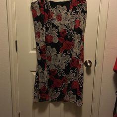 Floral Skirt Maxi length. Floral print. Elastic waist. Lane Bryant Skirts Maxi