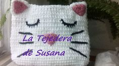 Bolsa en forma de gato  #gatito #cat #bag #ganchillo #latejederadeSusana