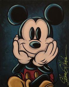 by Steve Huntsman Mickey Mouse Tattoos, Mickey Mouse Art, Mickey Mouse And Friends, Mickey Minnie Mouse, Disney Mickey, Mouse Pictures, Cute Disney Pictures, Disney Images, Vintage Disney Art