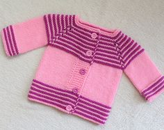 Hand Knitted baby merino wool jacket. Baby shower gift. READY TO SHIP!
